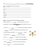 Parts of Speech Comprehensive Review and Answer Key