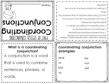 Parts of Speech: Conjunction Mini Books & Poster Set
