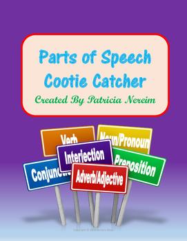 Parts of Speech Cootie Catcher