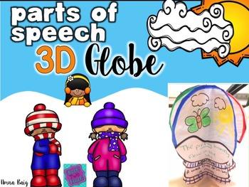 Parts of Speech Craft - WINTER Craftivity