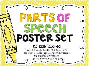 Parts of Speech: Crayon Scribble edition