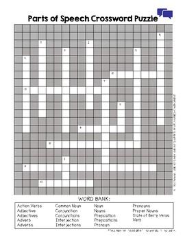 Parts of Speech Crossword