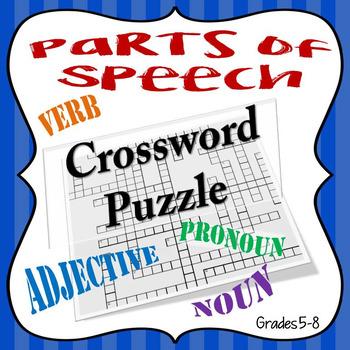 Parts of Speech Crossword Puzzle