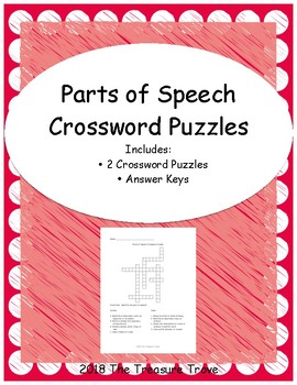 Parts of Speech Crossword Puzzles