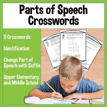 Parts of Speech Crosswords for Upper Elementary and Middle School
