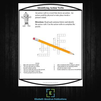 Parts of Speech Crossword Activities for Older Students PDF or Digital