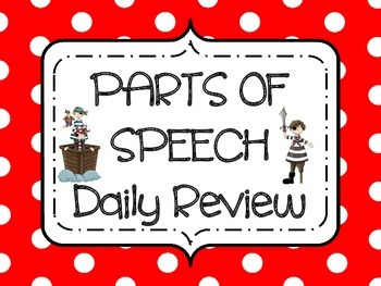 Parts of Speech Daily Review- Pirate theme