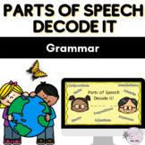 Parts of Speech- Decode It!