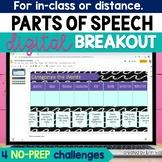 Digital Parts of Speech Activity - Parts of Speech Digital