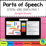 Parts of Speech Digital Grammar Word Search Pack 1