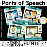 Parts of Speech : Digital Task Cards (Nouns, Verbs, Adject
