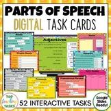 Parts of Speech Grammar Digital Task Cards Paperless Googl