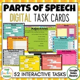 Parts of Speech Grammar Digital Task Cards Paperless Googl