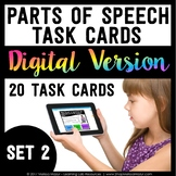 Parts of Speech Digital Task Cards - Set 2 - Boom Learning℠