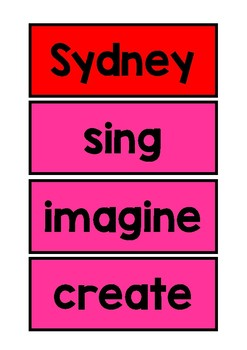 Parts of Speech Display Posters and Words