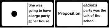 Parts of Speech Dominoes Activity
