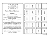 Parts of Speech Dominoes Game - FUN!!