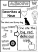Parts of Speech Doodle Notes: Nouns, Verbs, Adjectives, and Adverbs