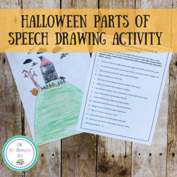Parts of Speech Drawing Activity- Halloween/Fall