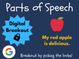 Parts of Speech (ELA Test Prep) - Digital Breakout! (Escape Room, Grammar)