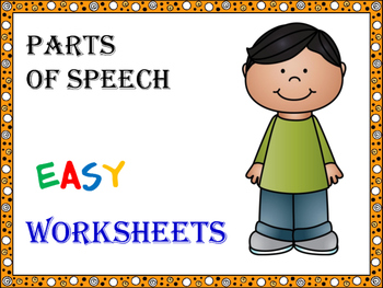 Parts of Speech - Easy Worksheets