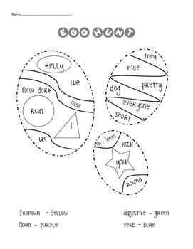 Parts of Speech Egg Hunt