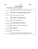 Parts of Speech Exercises - CCSS Aligned