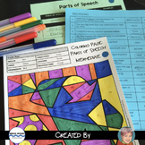 FREE Parts of Speech Coloring Sheet - A Fun Earth Day Activity