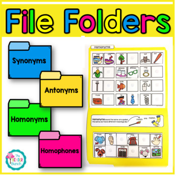 Parts of Speech File Folders