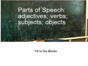 Parts of Speech Fill In
