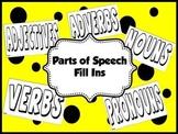 Parts of Speech Fill Ins