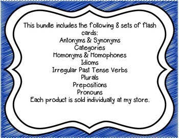 Language Flash Card Bundle
