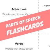 Parts of Speech Flashcards