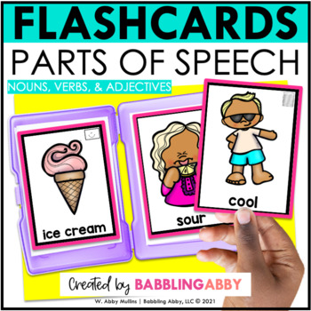 Parts of Speech Flashcards (nouns, verbs, and adjectives)