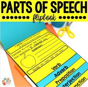 Parts of Speech Activity: Flip Book