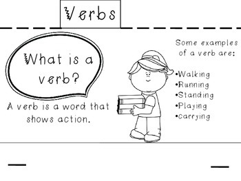 Parts of Speech Flip Book FREEBIE!
