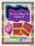 Parts of Speech Flip Book - Interactive Notebook