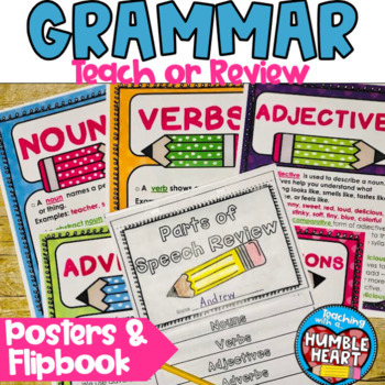 Parts of Speech Flip Book and Review Posters
