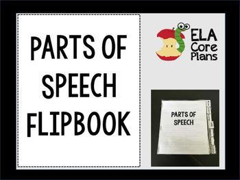 Parts of Speech Flipbook