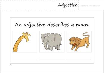 Parts of Speech Flipbook. (Nouns, Verbs, Adjectives, Adverbs).