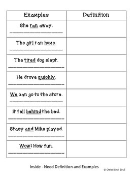 Parts of Speech Foldable