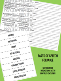 Parts of Speech Foldable for Middle Grades