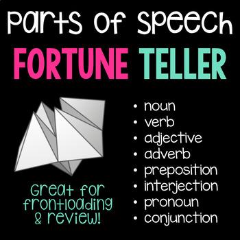 Parts of Speech Fortune Teller