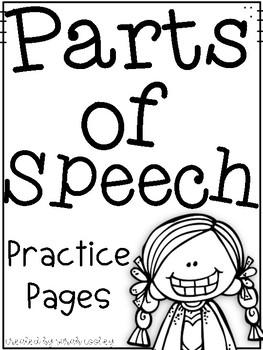 Parts of Speech Freebie