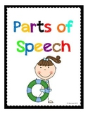 Parts of Speech: Fun in the Sun Theme!