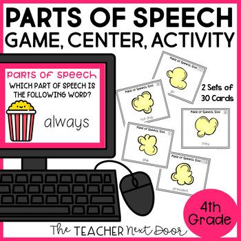 Parts of Speech Game | Parts of Speech Activity | Parts of Speech Sort
