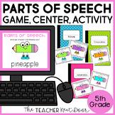 Parts of Speech Game | Parts of Speech Center | Parts of Speech Activities