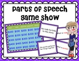 Parts of Speech Game Show :: noun verb adjective adverb preposition