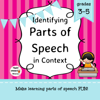 Parts of Speech Game/Sort Pack