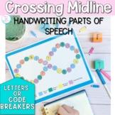 Handwriting Games NO PREP: parts of speech (verb, adjectiv